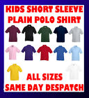 Plain Short Sleeve kids Polo Shirt with Collars and Buttons childs