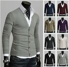 Mens Stylish Slim Fit BASIC Casual Knitwear Cardigan (8 Colors, UK size)