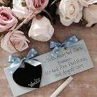 Personalised Wedding Engagement Countdown Chalkboard Plaque Sign Gift Mr & Mrs