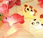 SLO207 20 Cute Animal Mixed Color Paper Lantern Patio Party String Lights Fairy