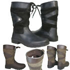 ADULTS WALKING RIDING YARD STABLE LEATHER WELLIES SHORT COUNTRY BOOTS SIZE 3-12