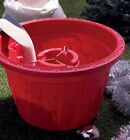 Decorative Plastic 42cm Christmas Tree Tub for Real Trees in Red or Forest Green