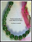 8 x 10mm GREEN AVENTURINE BEADED STRAND/STRING NECKLACE ~ SILVER ~ GOLD ~ SPACER