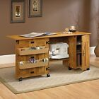 Sauder Sewing Cabinet Machine Table Craft Shelves Storage Bins ASSORTED Colors