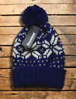 FAIR ISLE BOBBLE HAT new winter mens womens knitted beanie hype chunky slouch