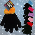 LADIES GIRLS LUXURY WINTER WARM THERMAL INSULATED KNITTED MAGIC GLOVES WALKING
