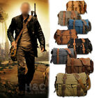 "Внешний вид - Men's Military Canvas Leather Satchel School 14"" Laptop Shoulder Messenger Bag"