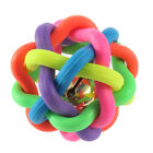 Colorful Cute Dog Puppy Cat Rubber Wobbly Ball with Bell Chewing Toys for Pet