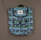 Hollister Women's Colorful Embroidered Backpack Book Bag by Abercrombie NWT!