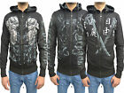 Mens Designer Corsano Black Hoody Top Jumper Fleece Zipper Cardigan Sweater