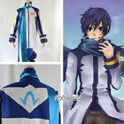 Vocaloid Kaito Cosplay white & blue Costume M L Size and Anime Wig Fashion Style