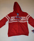 DC Comic SUPERMAN Boys Zip-Up Jacket  SIZE 4T or  5T   NWT Red