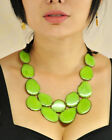 Tagua Suede Bib Necklace  FAIR TRADE ECO FRIENDLY Faire Andean Collection