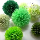 "10pc 20pc 6"" 8"" 10"" 12"" 14"" 16""  Tissue Paper Pom Poms Wedding Flower Decoration"