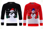 MENS WOMENS UNISEX XMAS CHRISTMAS SNOWMAN JUMPER LONG SLEEVES KNITTED SWEATER