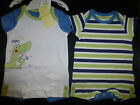 BNWT BABY BOYS 2 PAIR ROMPERS STRIPES & SNAP SNAP ALLIGATOR CHOOSE 0000 000 NEW