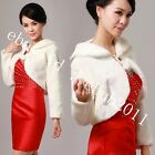 Size: S, M-L, XL White Ivory Faux Fur Evening/Wedding Wrap/Jacket/Shawl/Bolero