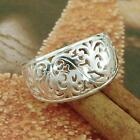 STERLING SILVER FLORAL RING SOLID.925 /NEW NICKEL FREE JEWELRY SIZE 5-12