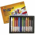 Mungyo Watercolour Crayons 0.9 cm Water-Soluble Triangular Pastel Assorted
