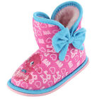 Girls Size 6 - 12 MOSHI MONSTERS Pink Boot Slippers Disney Bootee Poppet HOME