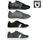 Mens Designer Unsung Hero Shiny Quilted Lace Up Trainers Shoes Pumps Sneakers