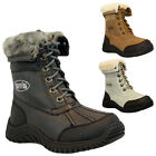 GIRLS KIDS BOYS FUR WARM WINTER HIKING WATERPROOF SOLE ZIP MUCKER SNOW BOOTS