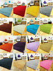 NEW PLAIN SOFT THICK COLORFUL SHAGGY AREA RUG LIVING ROOM CARPET SMALL - X LARGE