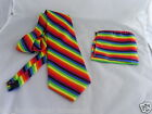 "Rainbow Necktie & Hanky-Mens Tie 3.5""Width The More Sets U Buy-The More £ U Save"
