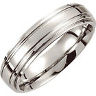 Dura Cobalt® Double Ridge Wedding Band - New Alternative Metal Bands - 6mm wide