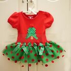 Kid Clothing Christmas Tree Dresses Toddler Bowknot Outfit For 1-5T Baby Girl