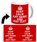❤ PERSONALISED KEEP CALM and any name any text any colour mug cup retro gift  ❤