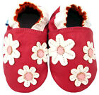 NEW SOFT LEATHER BABY SHOES 0-6, 6-12, 12-18,18-24 Months & 2-3 Years PINK DAISY