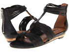 Lucky Brand Womens Jordyn Black Leather Casual Thong Open-Toe Zipper Sandals