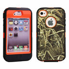 Heavy Duty Straw Grass Tree Camo Shockproof Dirtproof Case for iPhone 4 4s