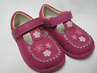 little girls Clarks shoes Litzy lou Fst hot pink leather UK 4 - 6.5