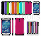 2 Layer Heavy Duty Hybrid Rubber Shockproof Case For Samsung Galaxy S4 SIV i9500