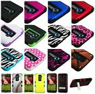*FREE Screen Protector* LG G2 TUFF Hybrid Impact Armor Hard Case Silicone Cover