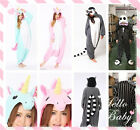 New Kigurumi Onesie Onsies Pajamas Pyjama Sleepwear Animal Costume Anime Cosplay