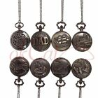 Vintage Retro Bronze Quartz Necklace Chain Pendant Pocket Watch Timer Mini OCAU