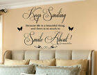 Marilyn Monroe Keep Smiling Life is Beautiful wall art quote wall stickers decal