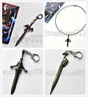 Devil May Cry DMC 3 IV Dante nero Key Chain Awaking Rebellion Sword Necklace New
