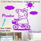 Peppa Pig Wall Sticker  Personalised