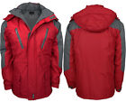 NEW MEN'S WATER PROOF WARM PADDED HOODED BREATHABLE SEAN SEALED FULL ZIP JACKETS