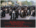20  MOTORCYCLE Harley BEER PARTY Postcards or Flat Cards Env Invitations