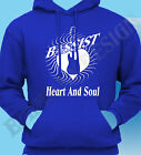 BASSIST GUITARIST HOODY HOODIE BASS PLAYER GUITAR HERO HEART AND SOUL GIG SHIRT