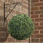 ARTIFICIAL TOPIARY BALL LONG LEAF HANGING GARDEN FAKE BUXUS BOXWOOD GRASS