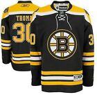 New Tim Thomas  30 Reebok Boston Bruins Stitched Black Youth NHL Jersey