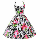 Floral Vintage Stylish Cocktail Prom Formal Party Evening Retro Rockabilly Dress