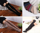 Women Lady Knit Cotton Over Knee Thigh Stockings High Socks Pantyhose Tights