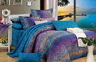 Fantasia 100% Cotton Bedding Set: 1 Duvet Cover 2 Pillow Shams  Queen/King/Cal K